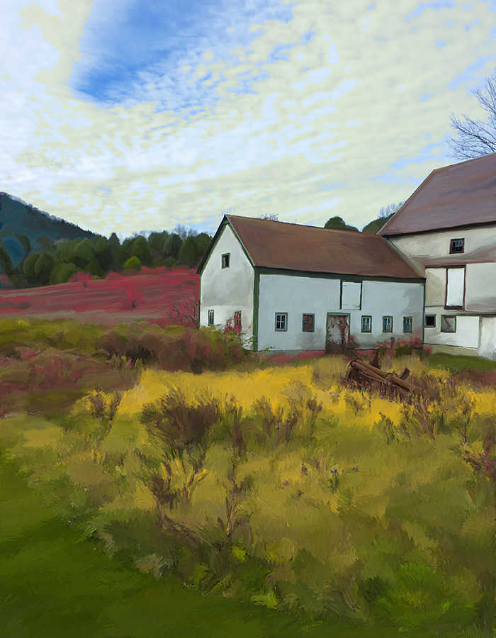 Barn in Red Field